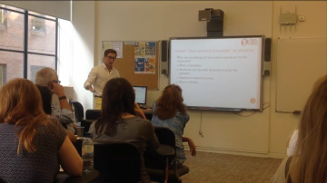 Training session at IH London, August 2016 From the video recorded by Miranda Embleton-Smith